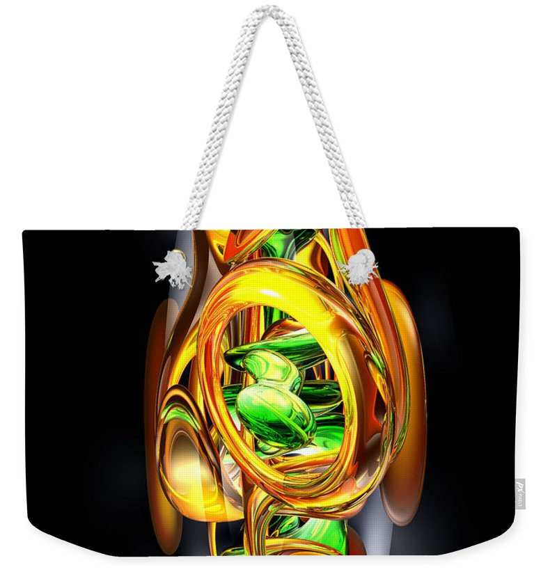 3d Weekender Tote Bag featuring the digital art The Wraith Abstract by Alexander Butler