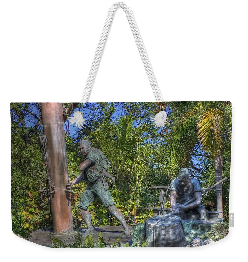 Key West Weekender Tote Bag featuring the photograph The Wreckers by Shelley Neff