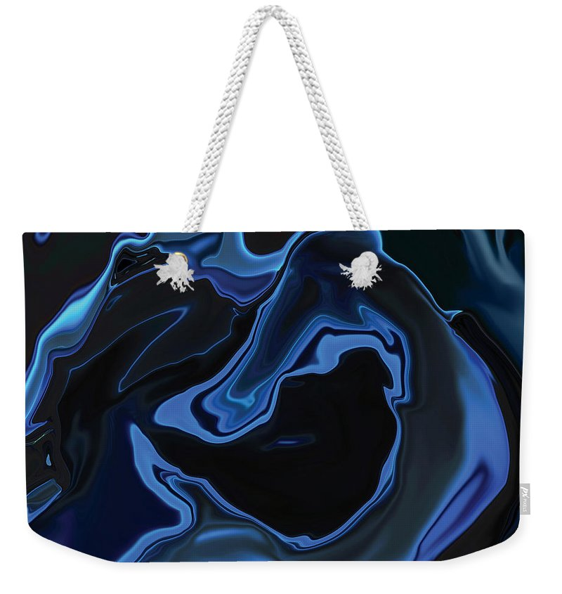 Art Weekender Tote Bag featuring the digital art The Young Mermaid by Rabi Khan