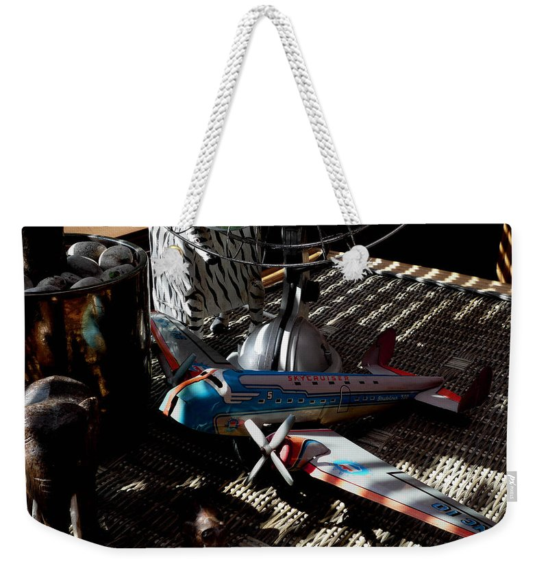 Still Life Weekender Tote Bag featuring the photograph The Zebra In Colour by Charles Stuart
