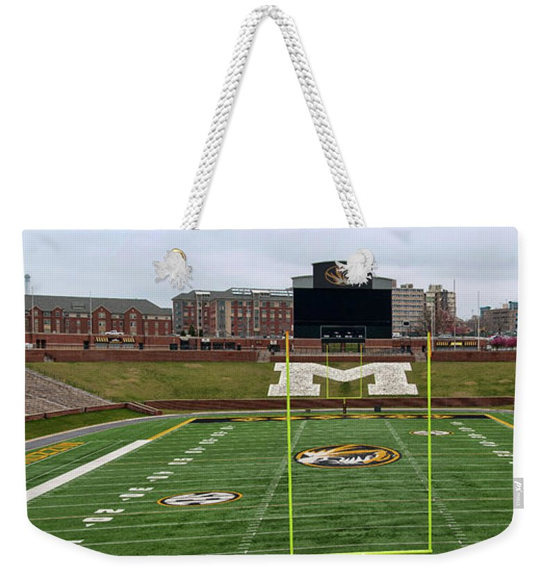 Faurot Field Weekender Tote Bag featuring the photograph The Zou Panoramic by Steve Stuller