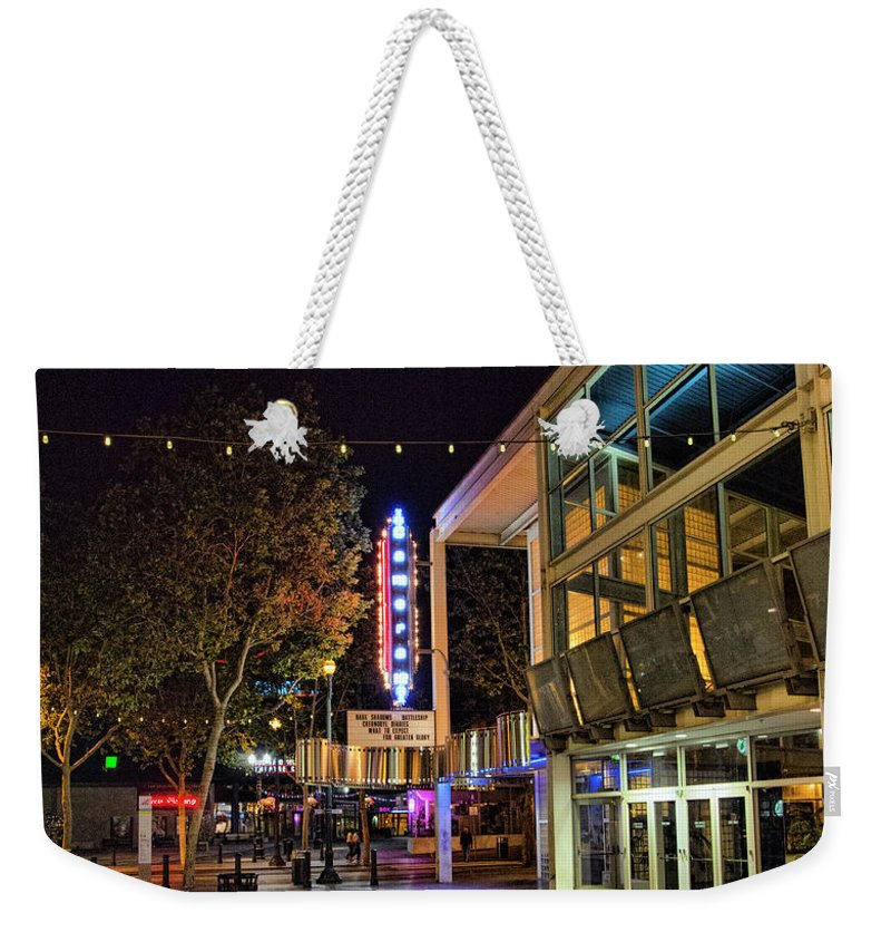 Architecture Weekender Tote Bag featuring the photograph Theater San Jose Downtown by Chuck Kuhn