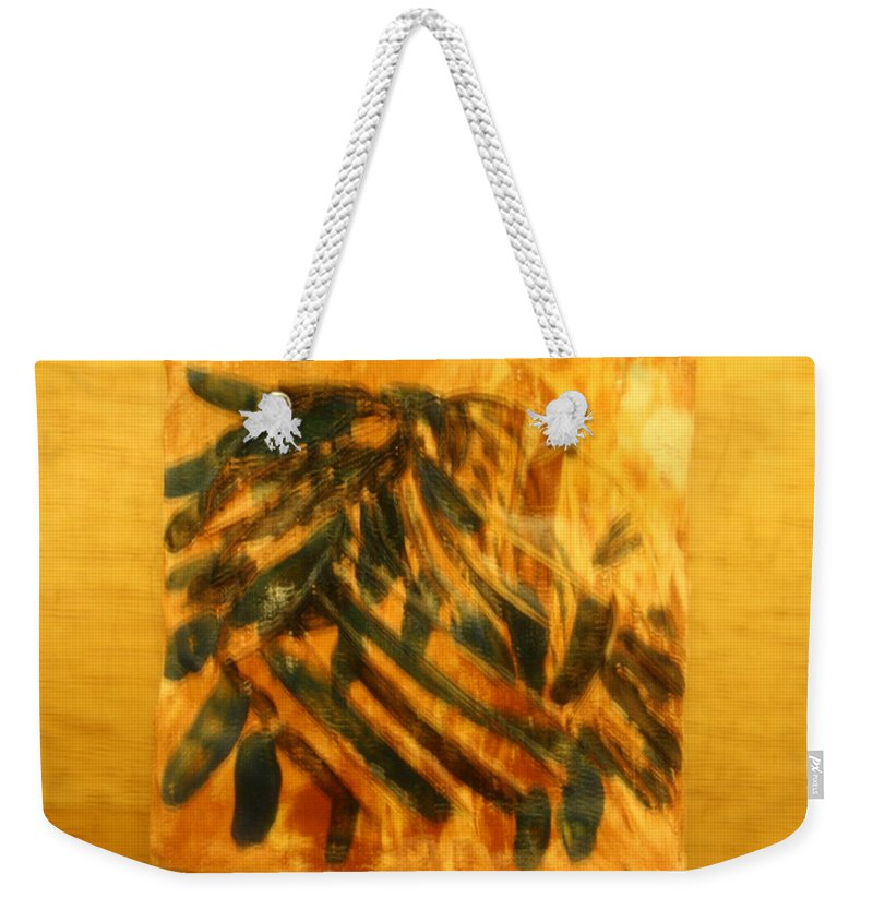 Jesus Weekender Tote Bag featuring the ceramic art There - Tile by Gloria Ssali