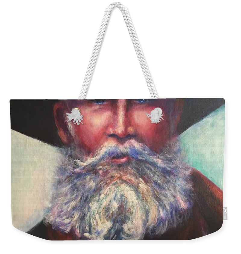 Portrait Weekender Tote Bag featuring the painting There Aint No Easy Way Out by Shannon Grissom