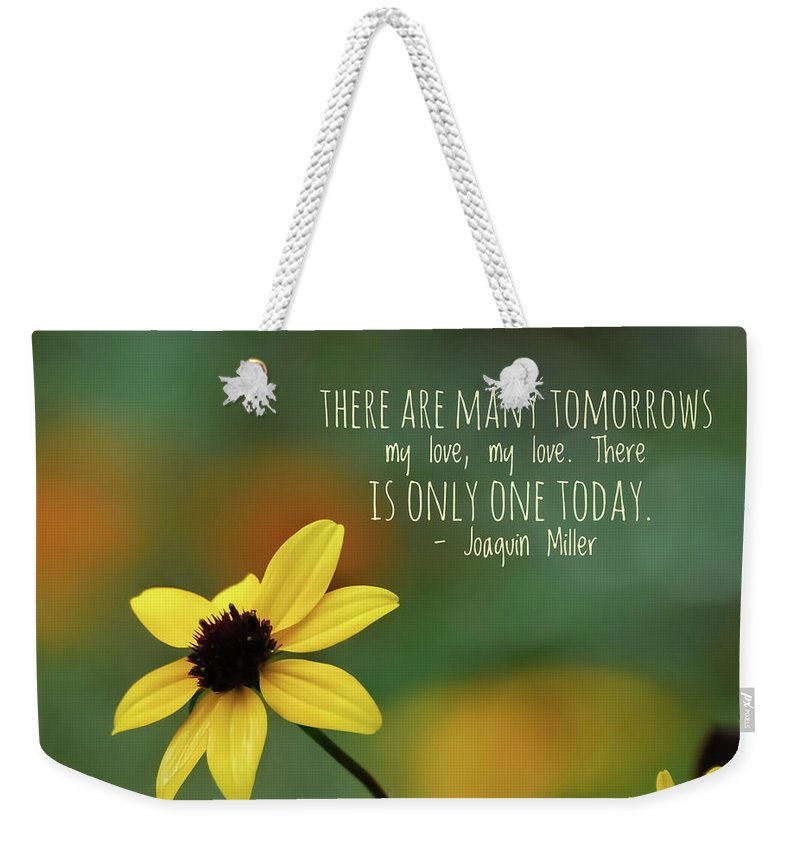 Wildflower Weekender Tote Bag featuring the photograph There Is Only One Today by Kerri Farley