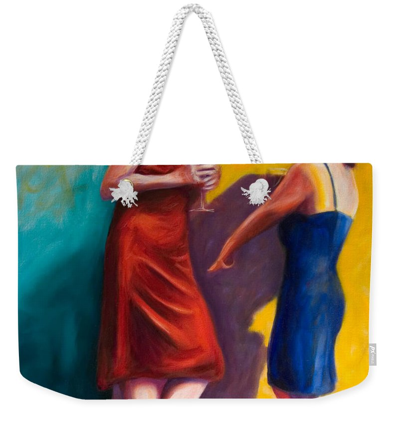 Figurative Weekender Tote Bag featuring the painting There by Shannon Grissom