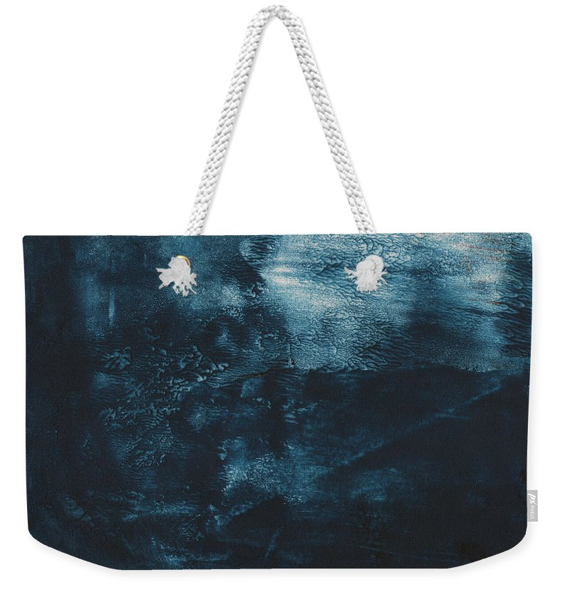 Abstract Weekender Tote Bag featuring the painting There When I Need You- Abstract Art By Linda Woods by Linda Woods