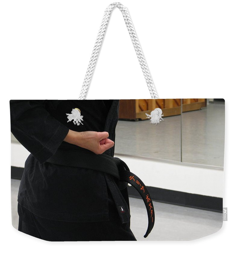 Karate Weekender Tote Bag featuring the photograph Theresa by Kelly Mezzapelle