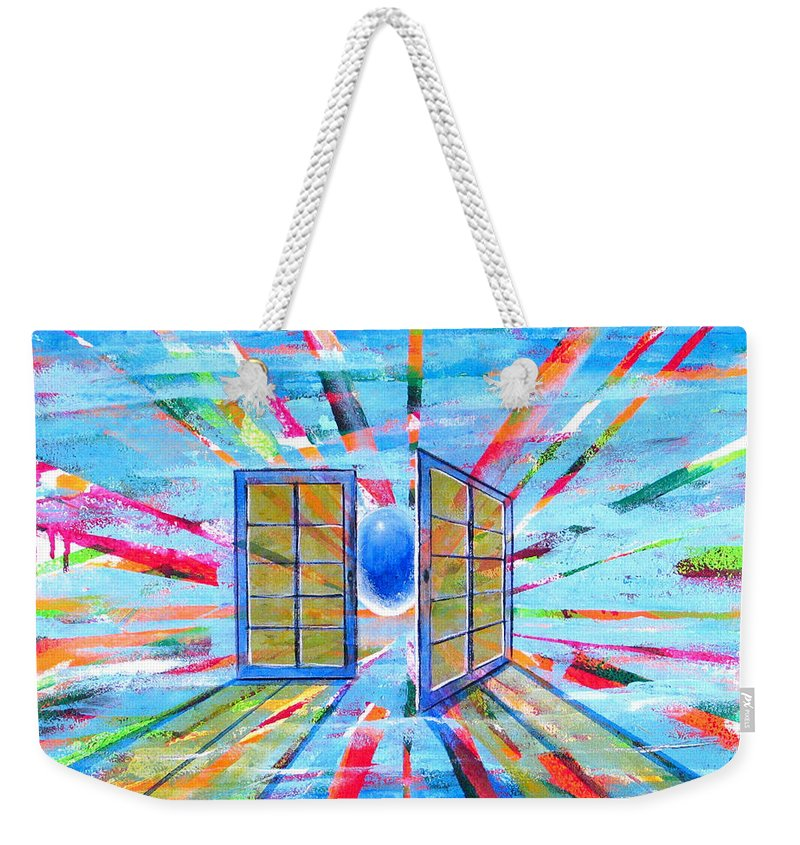 Spirt Weekender Tote Bag featuring the painting These Open Doors by Rollin Kocsis