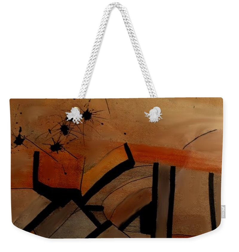 Abstract Weekender Tote Bag featuring the drawing They Came From Afar by Ian MacDonald