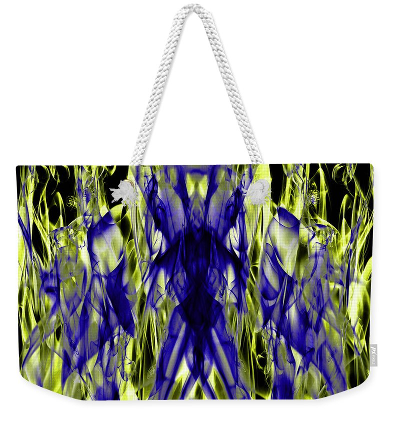 Clay Weekender Tote Bag featuring the digital art They by Clayton Bruster