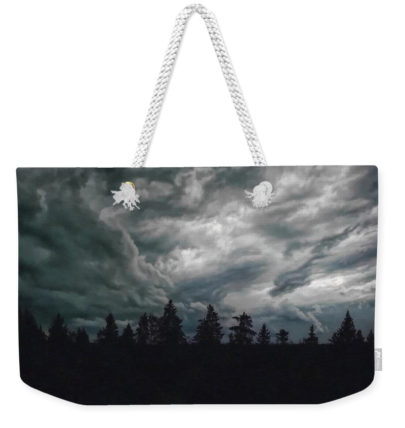 Wild Weekender Tote Bag featuring the photograph They're Coming by Andrea Kollo