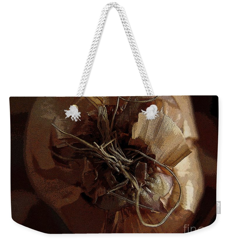 Digital Image Weekender Tote Bag featuring the photograph Thin Skin by Ron Bissett