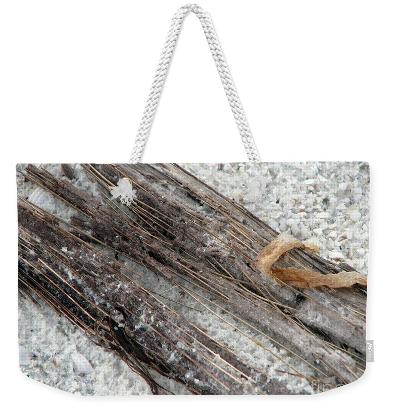 Beaches Weekender Tote Bag featuring the photograph Things On The Beach by Amanda Barcon