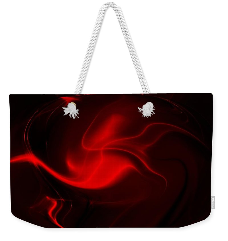 Abstract Digital Painting Weekender Tote Bag featuring the digital art Things That Go Bumb In The Night by David Lane
