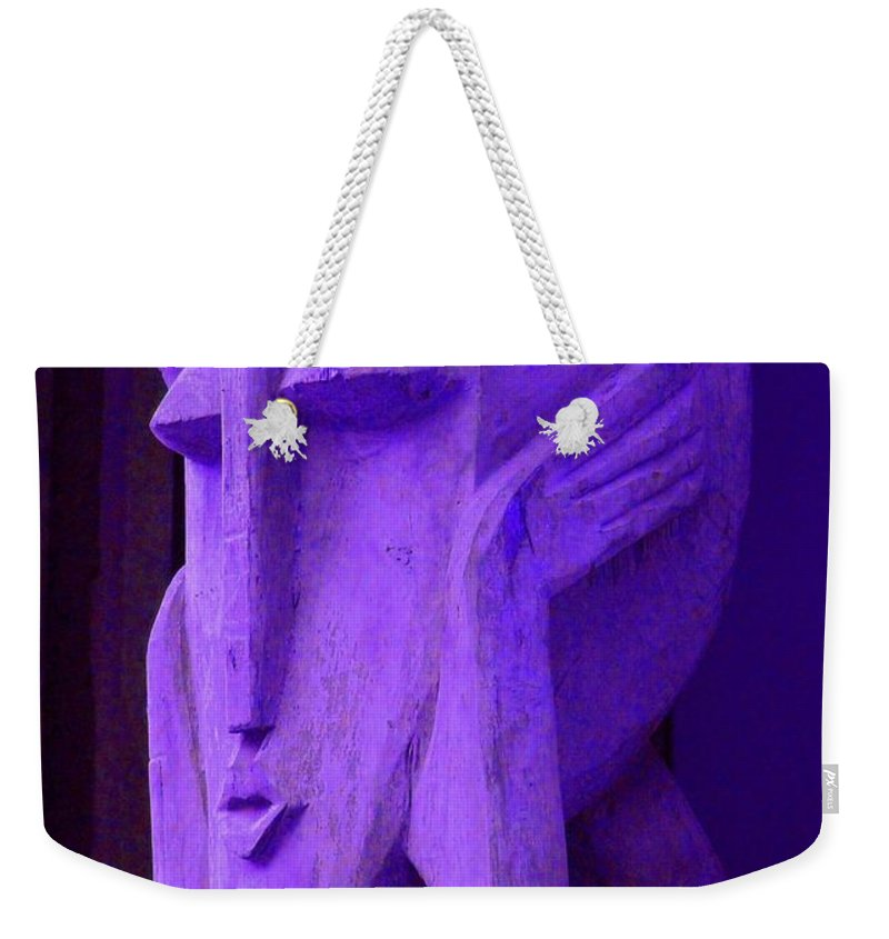 Head Weekender Tote Bag featuring the photograph Think About It by Debbi Granruth