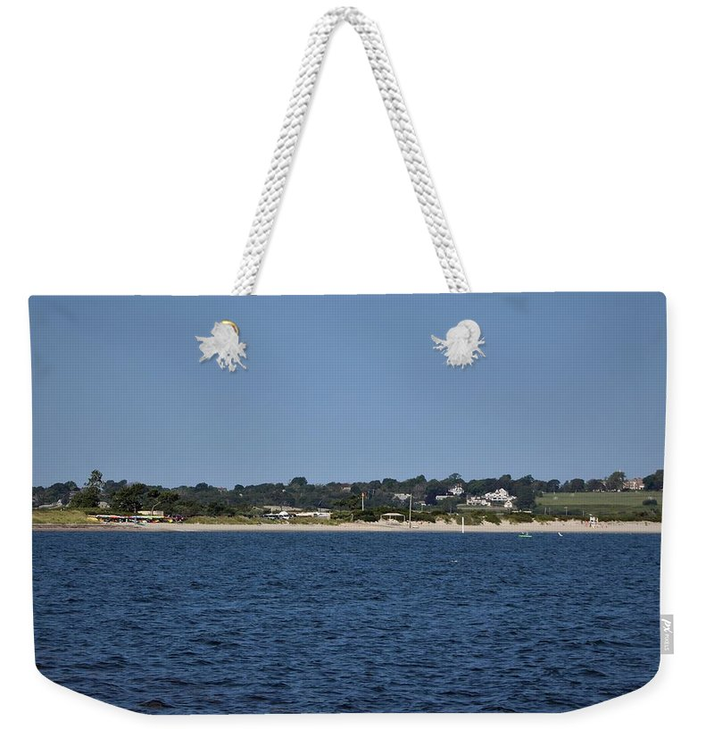 Weekender Tote Bag featuring the photograph Third Beach Middletown by Arthur DuBois