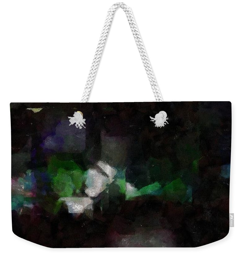 Abstract Weekender Tote Bag featuring the painting This Gulf's On Fire by RC DeWinter