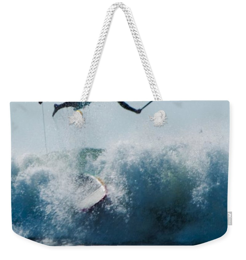 Surf Weekender Tote Bag featuring the photograph This Is Going To Hurt by Steven Natanson