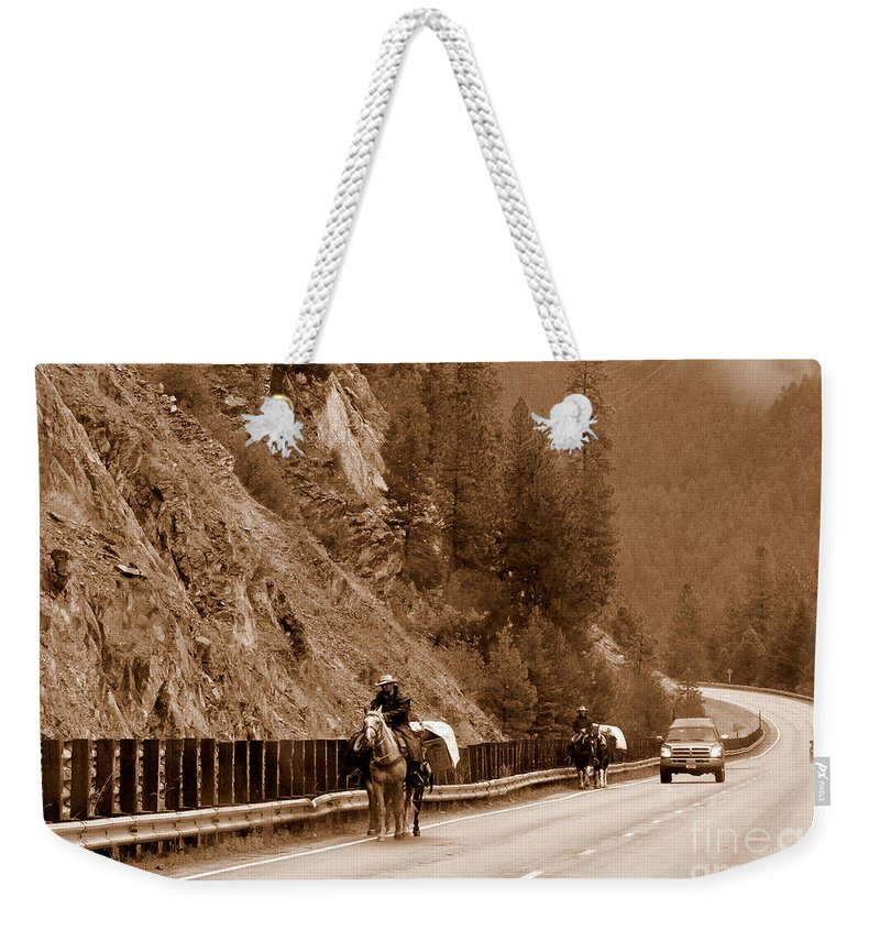 Landscape Weekender Tote Bag featuring the photograph This Is Montana, Baby by Tanya Searcy