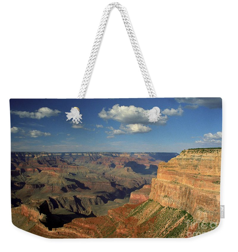 Grand Canyon Weekender Tote Bag featuring the photograph This Is My Father's World by Kathy McClure