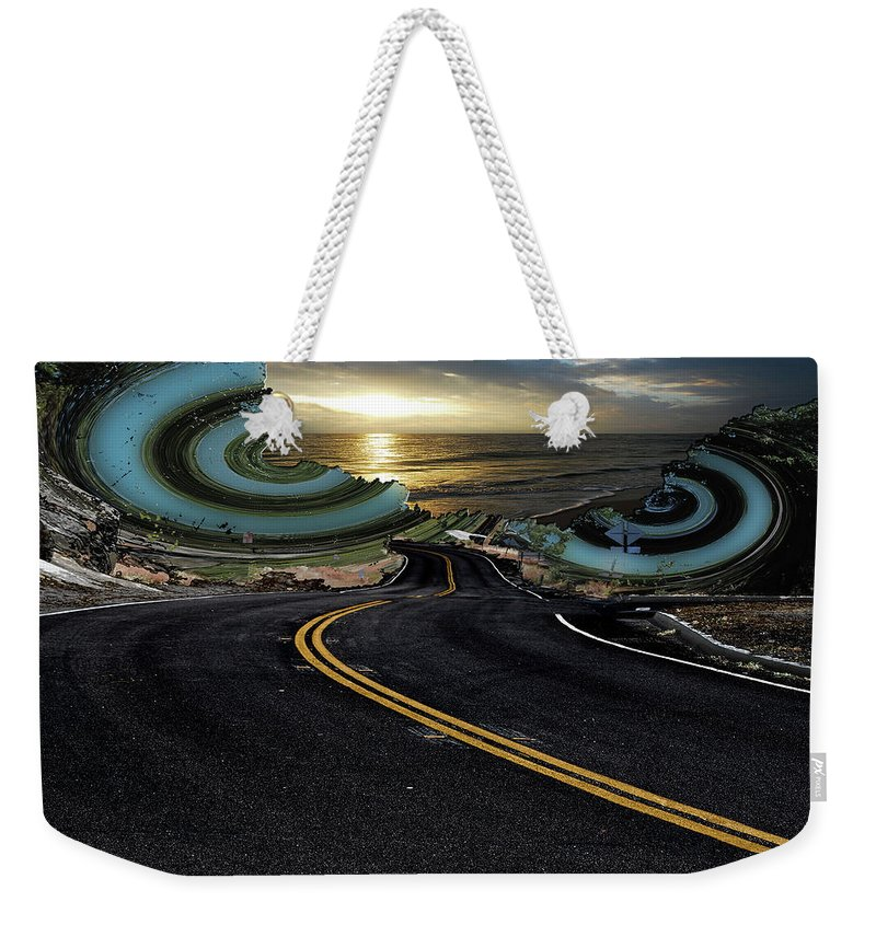 Roads Weekender Tote Bag featuring the digital art This Is Only The Beginning by Another Dimension Art