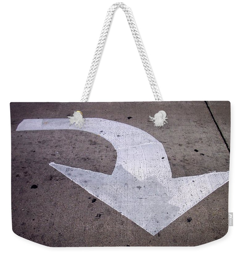 Street Weekender Tote Bag featuring the photograph This Way by Anita Burgermeister