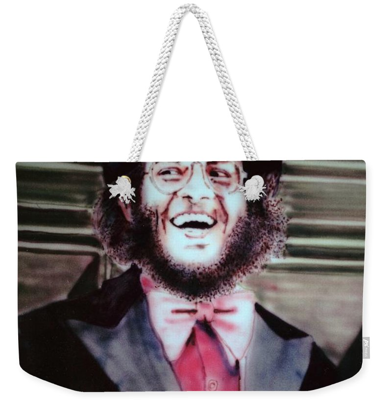 Portrait Weekender Tote Bag featuring the painting Thom by Ron Bissett