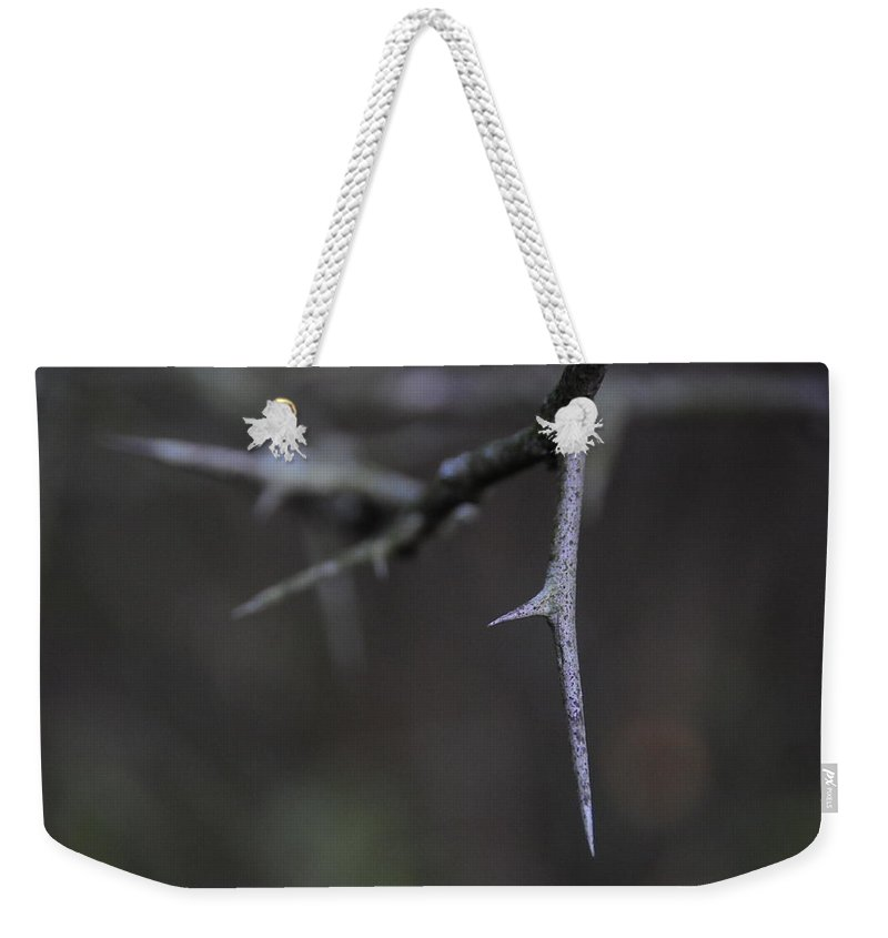 Thorn Weekender Tote Bag featuring the photograph Thorn by David Arment