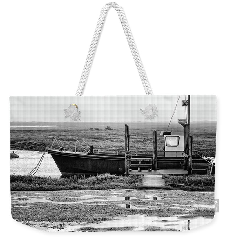 Amazing Weekender Tote Bag featuring the photograph Thornham Harbour, North Norfolk by John Edwards