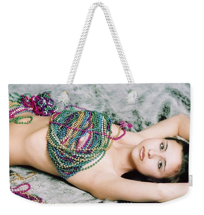 Female Artistic Nude Weekender Tote Bag featuring the photograph Those Eyes by Tom Hufford