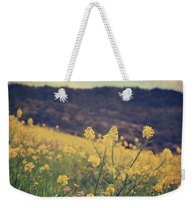 Landscapes Weekender Tote Bag featuring the photograph Those Lighthearted Days by Laurie Search