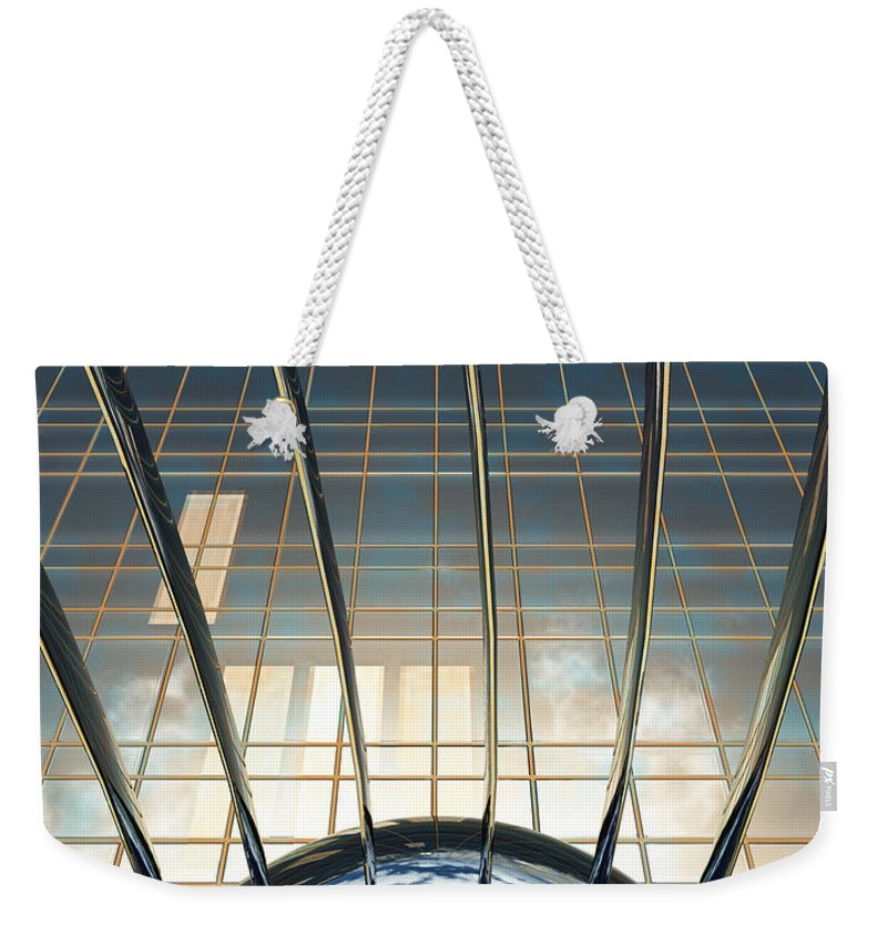 Abstract Weekender Tote Bag featuring the digital art Thought Control by Richard Rizzo