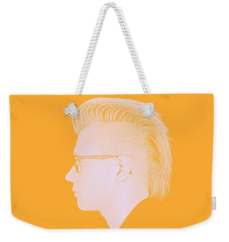 Man Weekender Tote Bag featuring the painting Thoughtful Youth Series 26 by Asar Studios