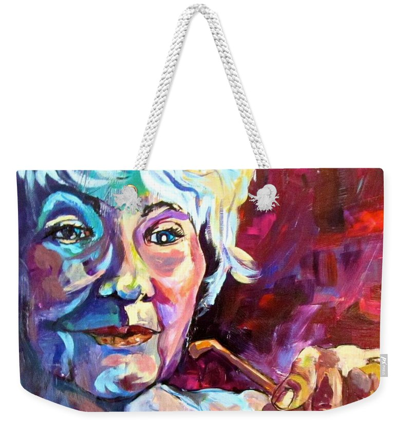Woman Weekender Tote Bag featuring the painting Thoughts by Barbara O'Toole