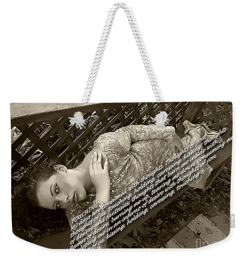 Clay Weekender Tote Bag featuring the photograph Thoughts Of You by Clayton Bruster
