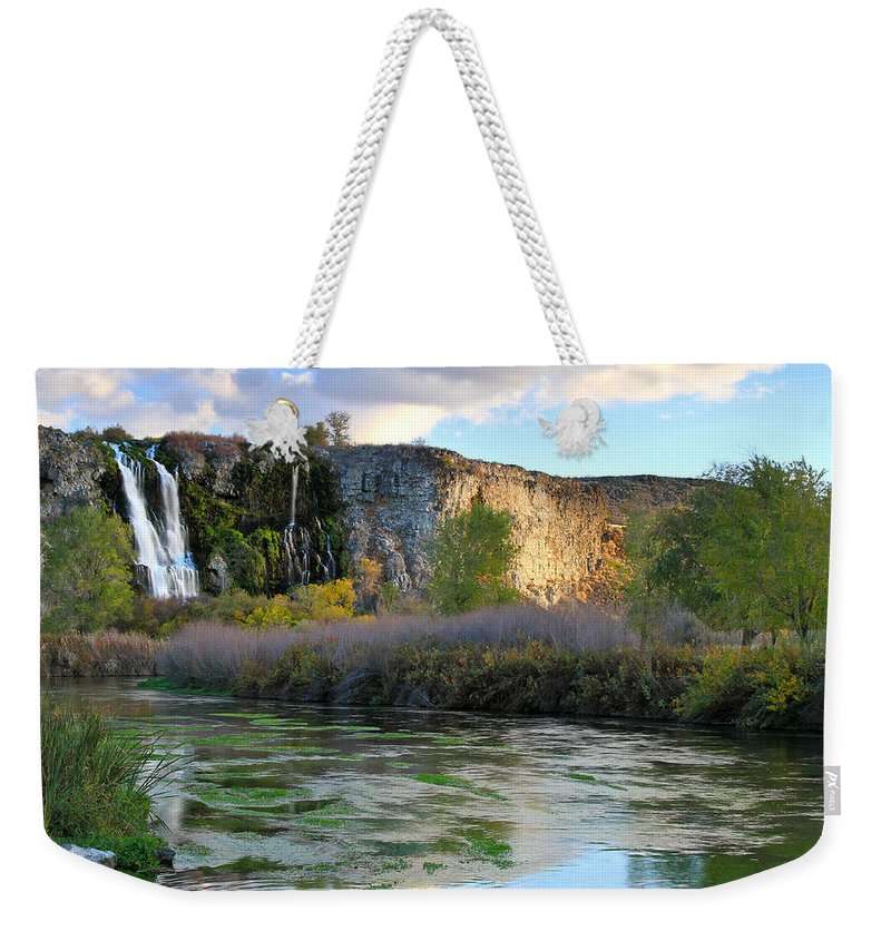 Thousand Springs Weekender Tote Bag featuring the photograph Thousand Springs Idaho by Ed Riche