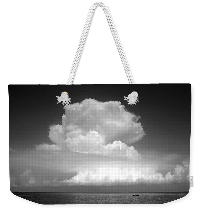 Storm Weekender Tote Bag featuring the photograph Threatening by David Lee Thompson
