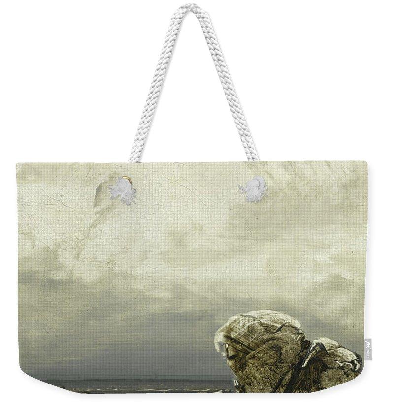 Peder Balke Weekender Tote Bag featuring the painting Threatening Weather by Peder Balke