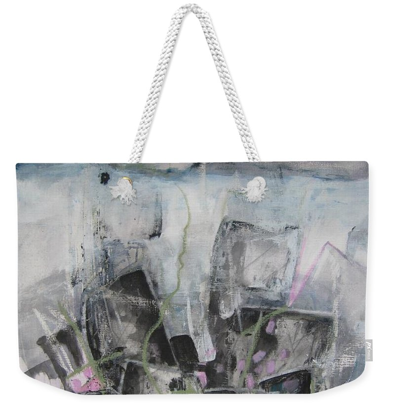 Cemetery Weekender Tote Bag featuring the painting Three Arms by Seon-Jeong Kim