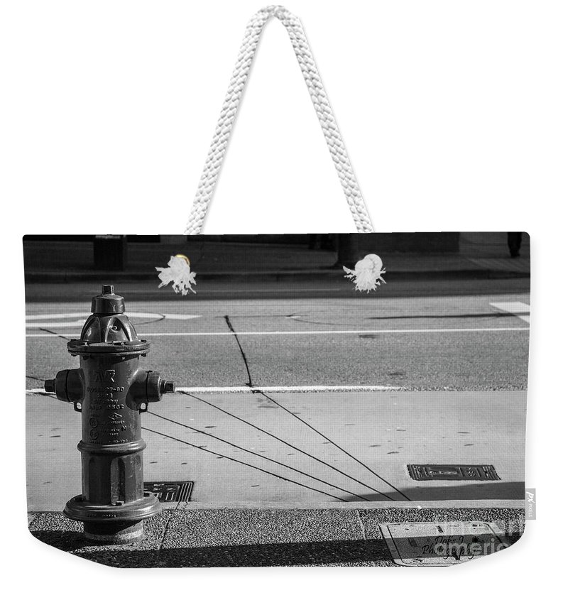 2015 Weekender Tote Bag featuring the photograph Three Black Lines by Dorothy Hilde