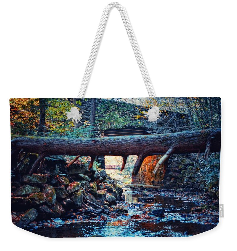 Bridge Weekender Tote Bag featuring the photograph Three Bridges by Shelley Smith