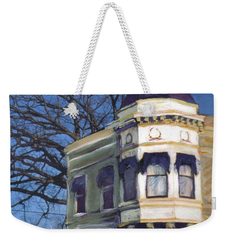 Miexed Media Weekender Tote Bag featuring the mixed media Three Brothers by Anita Burgermeister