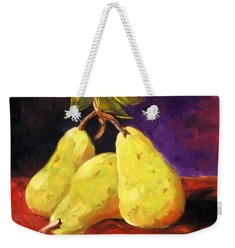 Art Weekender Tote Bag featuring the painting Three Buddies by Richard T Pranke