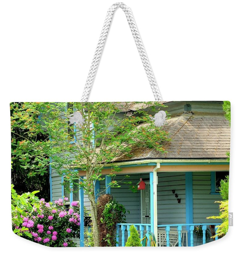 First Weekender Tote Bag featuring the photograph Three Butterflies by Jerry Sodorff