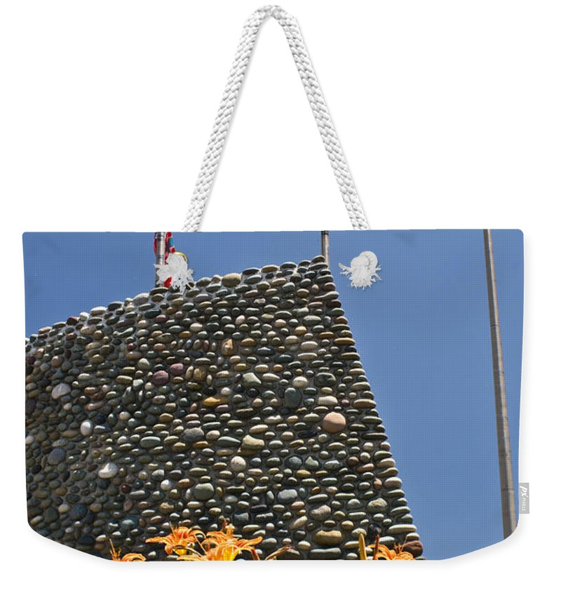 Flags Weekender Tote Bag featuring the photograph Three Flags In Memphis Tennessee by Douglas Barnett