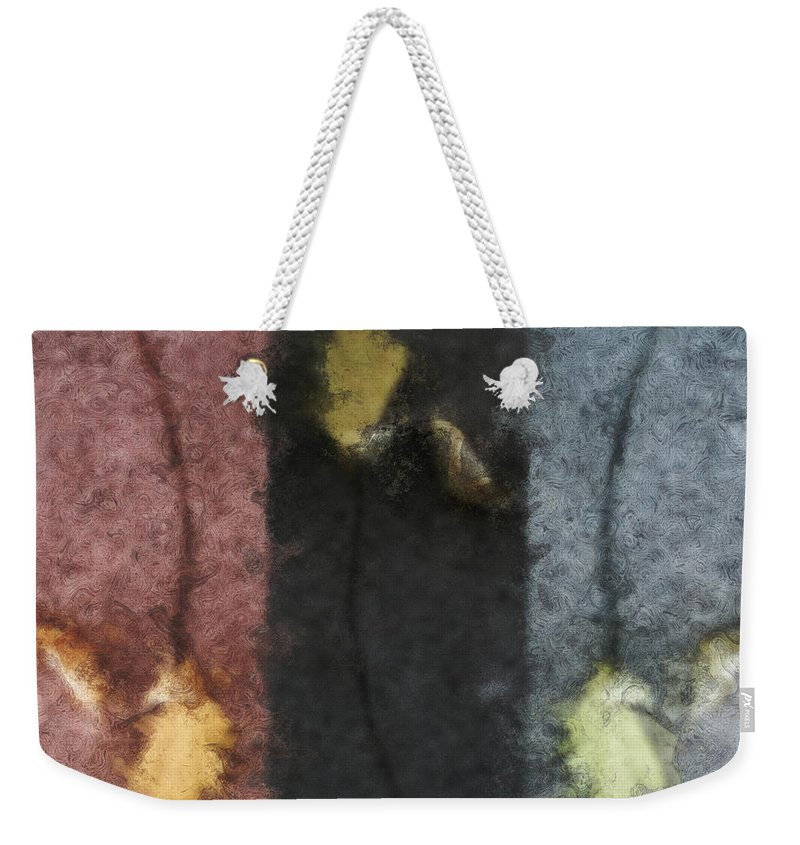 Impressionist Weekender Tote Bag featuring the digital art Three Leaves by RC DeWinter