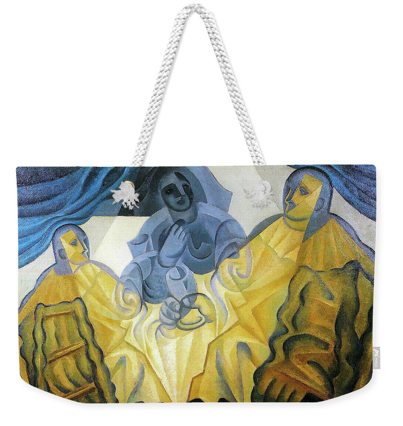 Three Weekender Tote Bag featuring the painting Three Masks by Juan Gris
