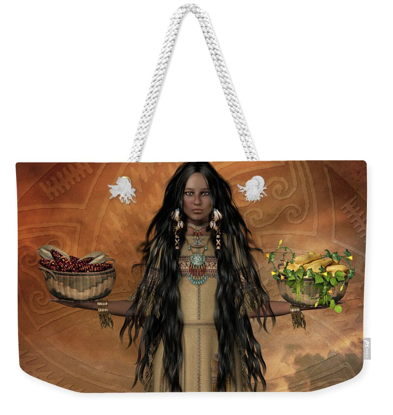 The Three Sisters Weekender Tote Bag featuring the digital art Three Sisters by Shanina Conway