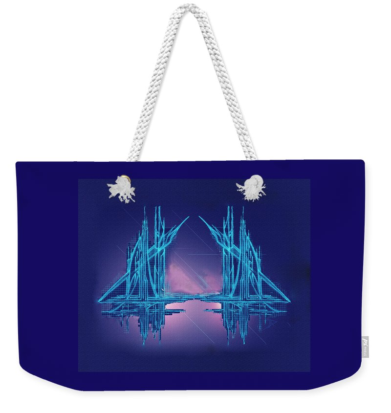 Abstract Weekender Tote Bag featuring the digital art Threshold by Don Quackenbush